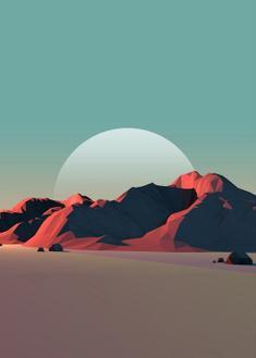 Low Poly Mountain VIII