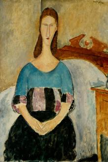 Portrait of a Young WomanPortrait of Jeanne Hebuterne Seated, 1918