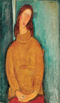 Jeanne Hebuterne in a Yellow Jumper,1919