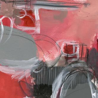 Red & Gray Abstract I