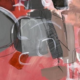 Red & Gray Abstract II