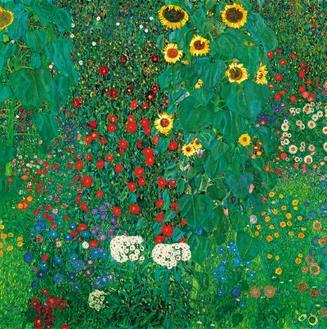 Country Garden with Sunflowers(해바라기가 있는 정원)