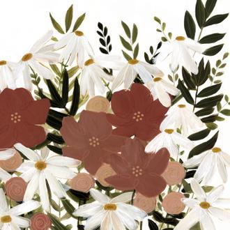 Terracotta Wildflowers I