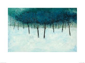 Blue Trees on White