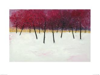 Red Trees on White
