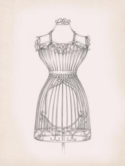 Antique Dress Form II