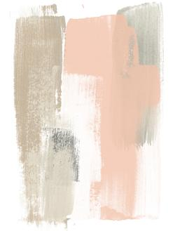 Blush Abstract VI