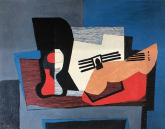 Still Life with Guitar, 1921
