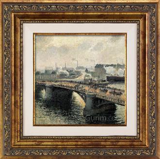 Pont Boildieu in Rouen (안개낀날, 석양이 내리는 루앙의 보일디외다리)