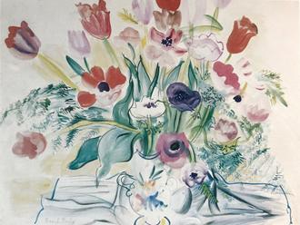Bouquets d' iris et de coquelicots, 1948