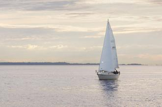 Sailboat in Semiahmoo Bay