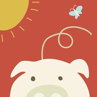 Peek-a-Boo IV Pig