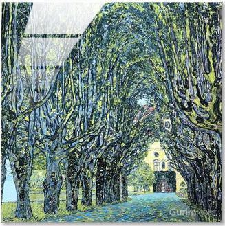 Avenue in Schloss Kammer Park (캄머성 공원의 산책로)
