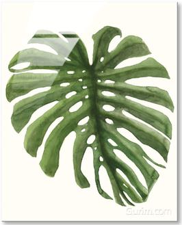 Tropical Breeze Leaves I
