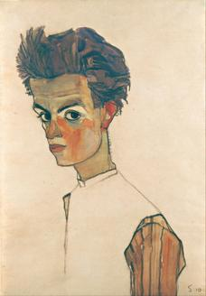Self-Portrait with Striped Shirt, 1910