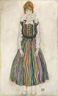 Portrait of Edith (줄무늬 옷을 입은 에디트 쉴레의 초상)