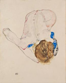 Nude with Blue Stockings, Bending Forward