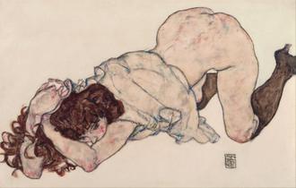 Kneeling Girl, Resting on Both Elbows