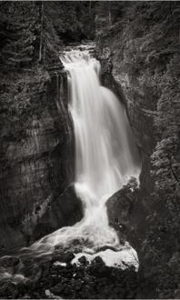 Miners Falls Michigan BW