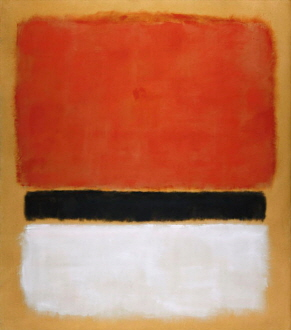 Untitled (Red, Black, White on Yellow), 1955