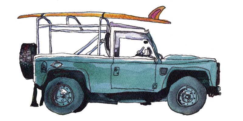 Surf Car I (스타트업 협찬그림)