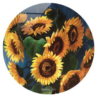 Aged Wood Aad Sunflowers
