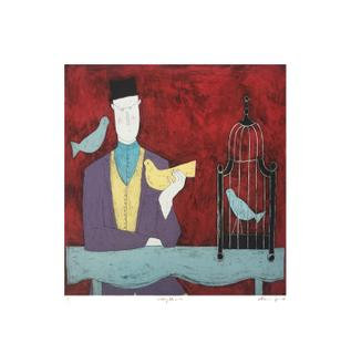 Man with Bird Cage (150 Editions)