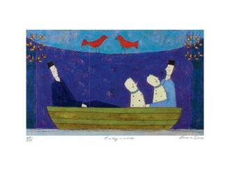 Two Dogs in a Boat (175 Editions)