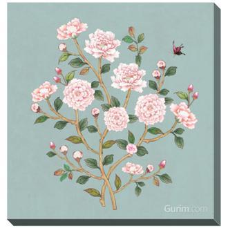 꽃가지 여름_파랑