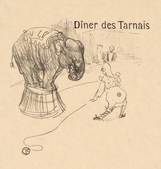 Menu From The Dinner Tarnais, 1896