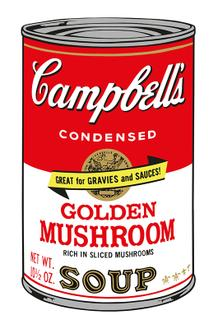 Campbell 's Soup Ⅱ_Golden Mushroom (1500 Editions)