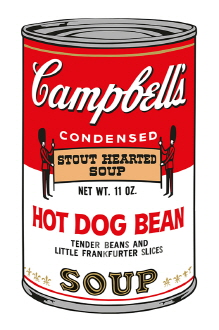 Campbell 's Soup Ⅱ_Hot Dog Bean (1500 Editions)