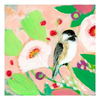 Chickadee And Roses