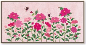 화초밭 초여름 분홍