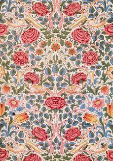 Rose Furnishing Fabric, 1883